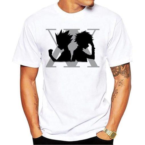 tshirt logo gris hunters gon kirua