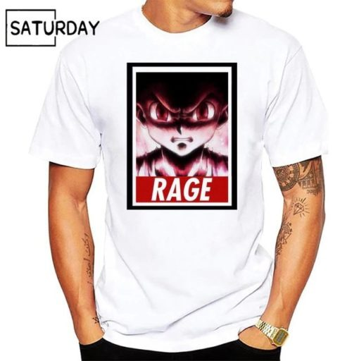 t-shirt hunter x hunter rage gon