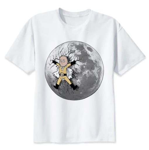 Tshirt One Punch Man Saitama Lune