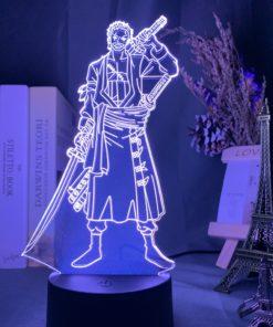 lampe roronoa zoro one piece violet