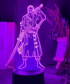 lampe roronoa zoro one piece rose