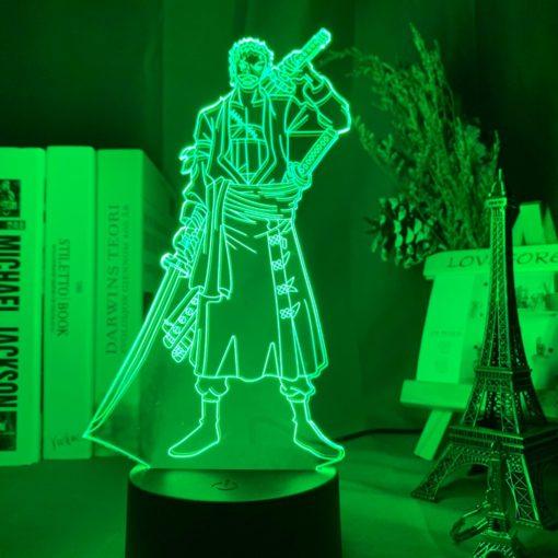 lampe roronoa zoro one piece vert