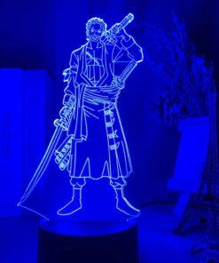 lampe roronoa zoro one piece bleu marine