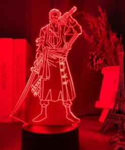 lampe roronoa zoro one piece rouge