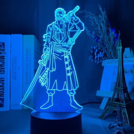 lampe roronoa zoro one piece bleu