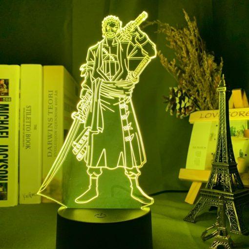 lampe roronoa zoro one piece jaune