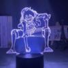 lampe luffy en position de combat