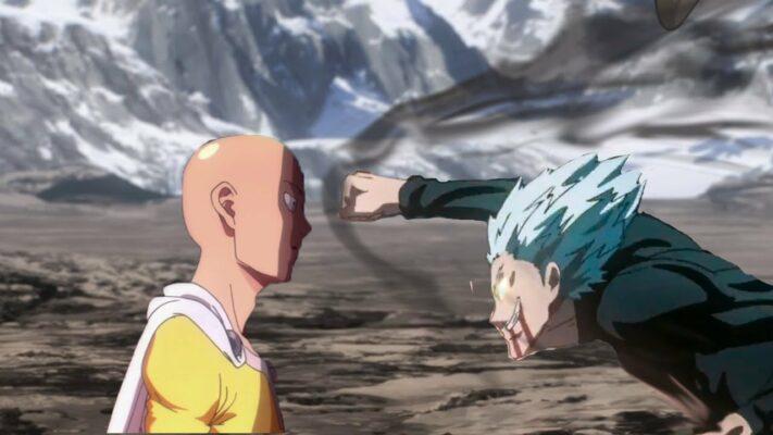 one punch man saitama vs garou
